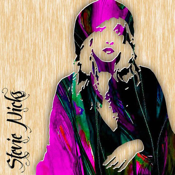 Mac Mixed Media - Stevie Nicks by Marvin Blaine