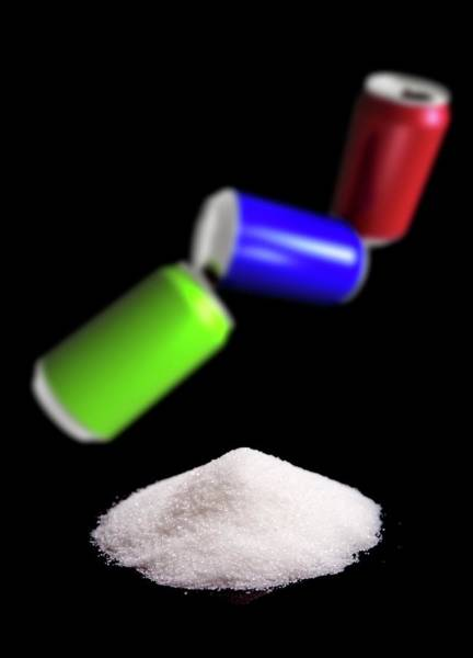 Sugar In Fizzy Drinks Art Print by Victor Habbick Visions/science Photo Library