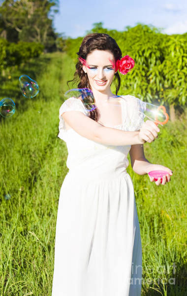 Soap Bubble Photograph - Summer Fun by Jorgo Photography - Wall Art Gallery
