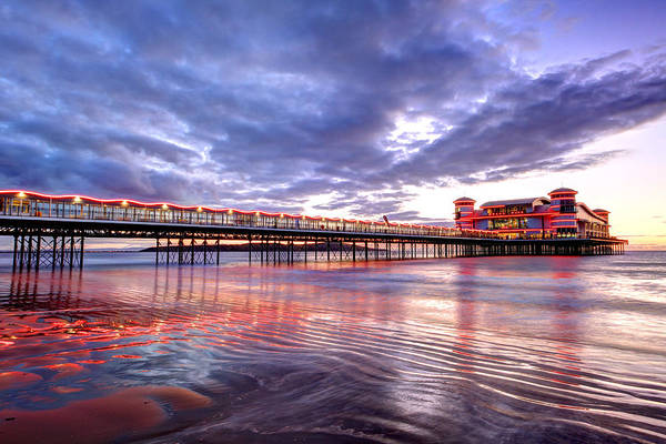 Weston Photograph - Sunset  Pier by Ollie Taylor