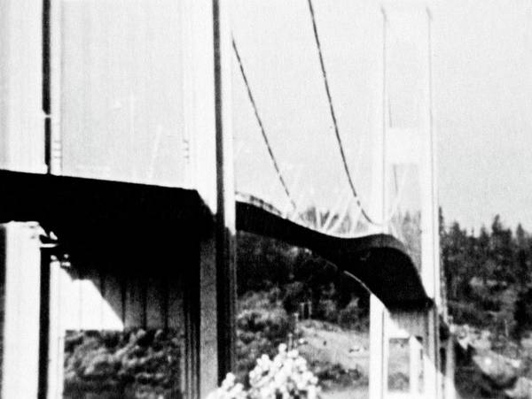 Wall Art - Photograph - Tacoma Narrows Bridge Collapse by Library Of Congress/science Photo Library