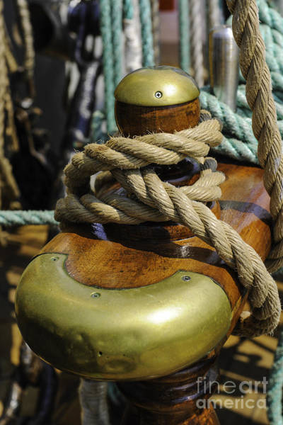 Photograph - Tall Ship Rigging Vertical by Dale Powell