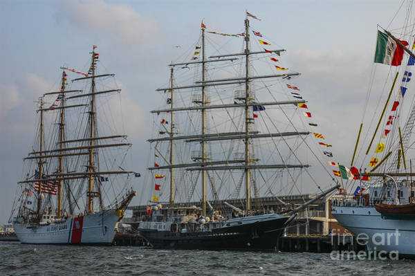 Photograph - Tall Ship Docking by Dale Powell