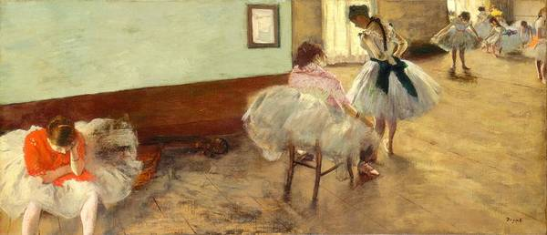 Painting - The Dance Lesson by Edgar Degas