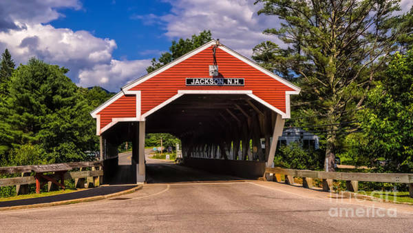 Photograph - The Honeymoon Covered Bridge. by New England Photography