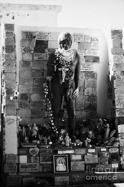 Indio Photograph - tomb of the unknown indian indio desconocido in cemetery of Punta Arenas Chile by Joe Fox