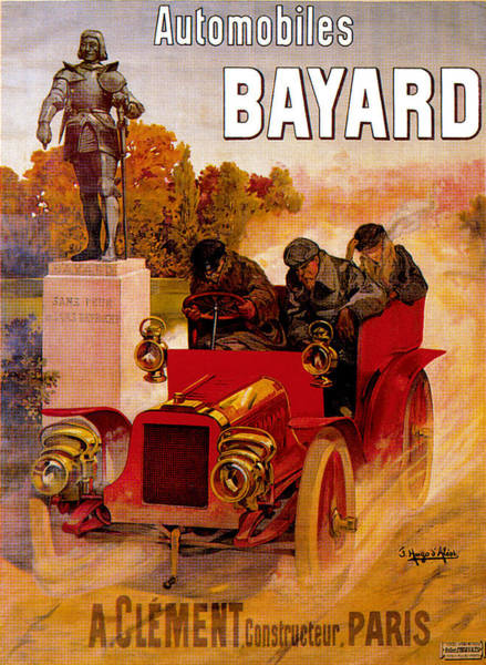 Photograph - Bayard Automobiles by Unknown