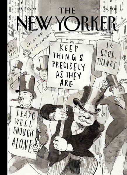 Wall Art - Painting - New Yorker October 24th, 2011 by Barry Blitt