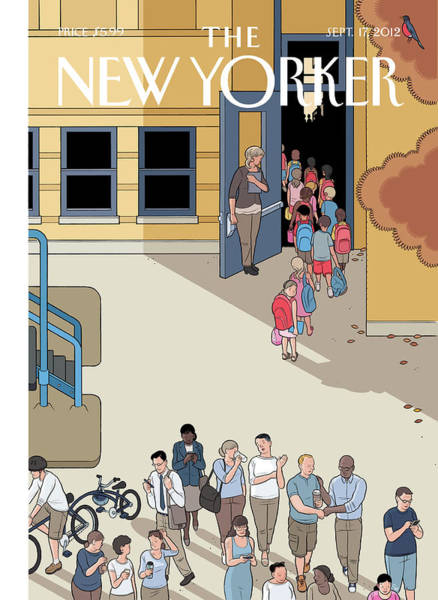 Wall Art - Painting - New Yorker September 17th, 2012 by Chris Ware