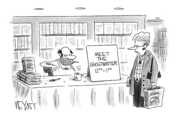 Writers Drawing - New Yorker February 14th, 2005 by Christopher Weyant