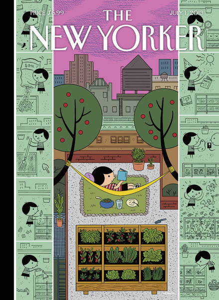 Roof Painting - New Yorker July 1st, 2013 by Ivan Brunetti