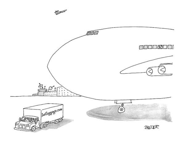 Luggage Drawing - New Yorker September 26th, 2016 by Jack Ziegler
