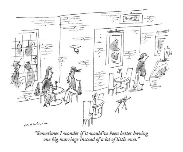 Divorce Wall Art - Drawing - Sometimes I Wonder If It Would've Been Better by Michael Maslin