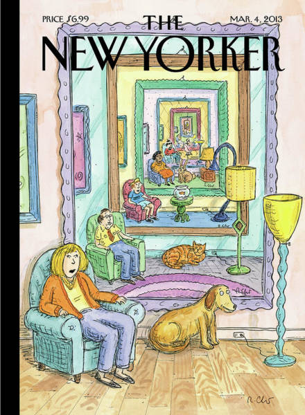 March 2013 Painting - New Yorker March 4th, 2013 by Roz Chast