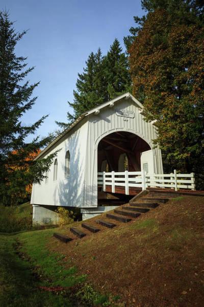 Covered Bridge Photograph - Usa, Oregon, Pedee, Minnie Ritner by Rick A Brown