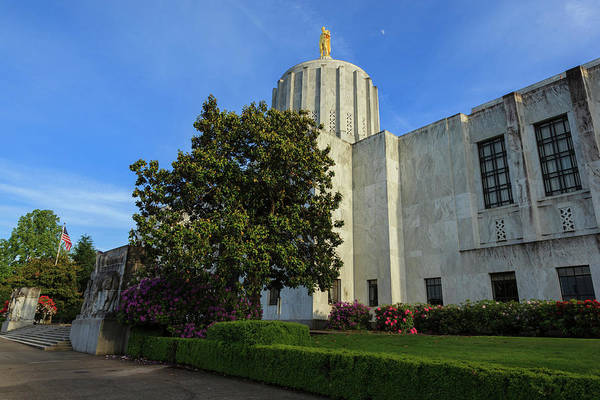 Us Capitol Photograph - Usa, Oregon, Salem, Oregon State Capitol by Rick A Brown