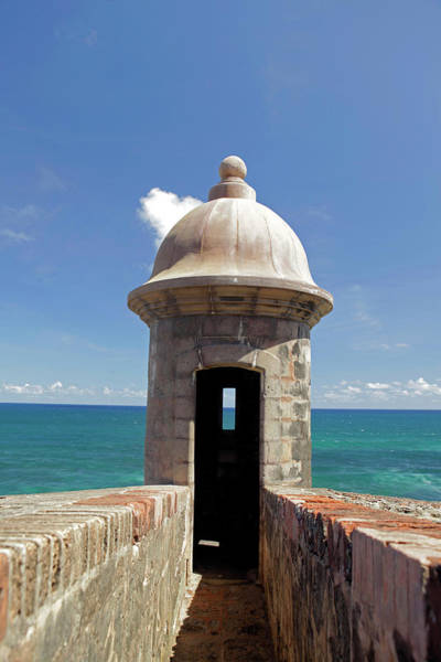 Sentry Box Photograph - Usa, Puerto Rico, San Juan by Kymri Wilt