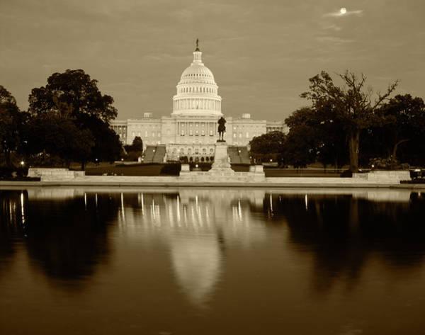 Capitol Building Photograph - Usa, Washington Dc, Capitol Building by Walter Bibikow