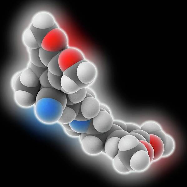 Er Photograph - Verapamil Drug Molecule by Laguna Design