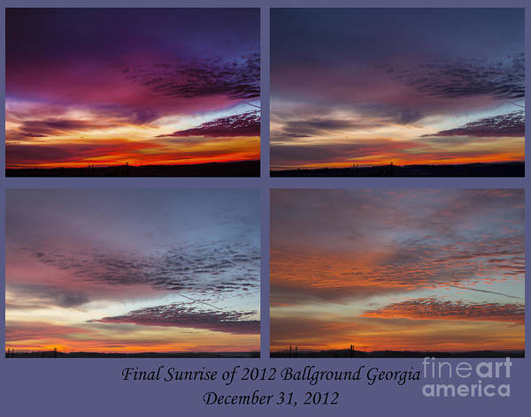 4 Views Of Sunrise 2 Art Print