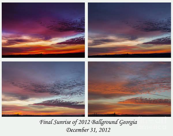 4 Views Of Sunrise Art Print