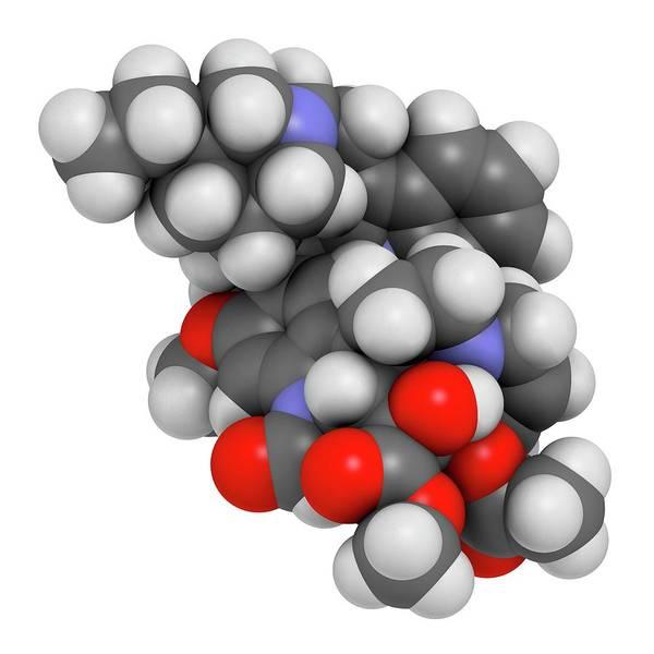 Wall Art - Photograph - Vincrinstine Cancer Drug Molecule by Molekuul