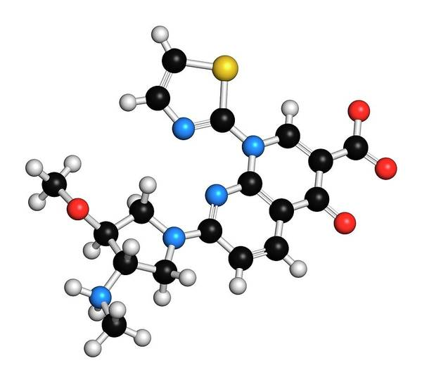 Wall Art - Photograph - Vosaroxin Cancer Drug Molecule by Molekuul/science Photo Library