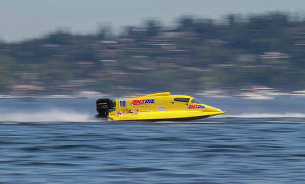 Motor Boat Photograph - Wa, Seattle, Seafair, Formula One (f1 by Jamie and Judy Wild