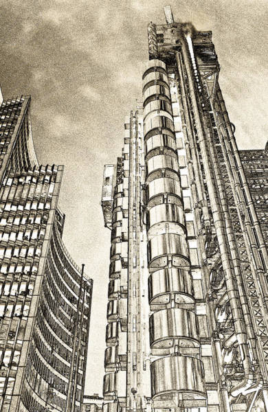 Square Mile Wall Art - Digital Art - Willis Group And Lloyd's Of London Art by David Pyatt