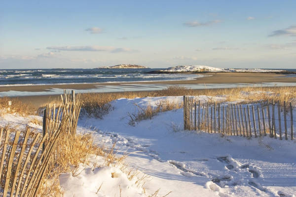 Whitecaps Photograph - Winter At Popham Beach State Park Maine by Keith Webber Jr