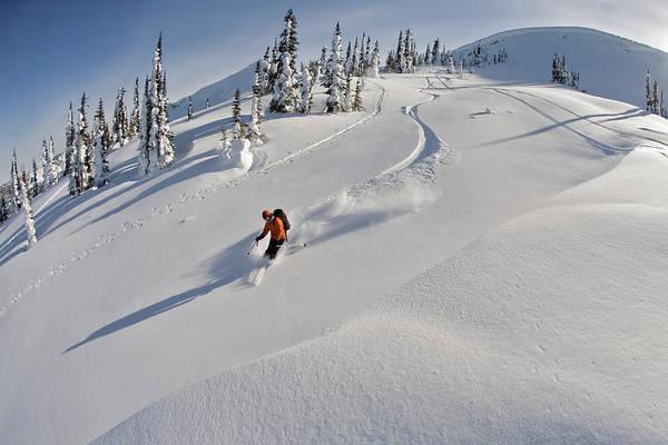 Jasmin Photograph - Woman Skiing, Valhalla Mountain Touring by Whit Richardson