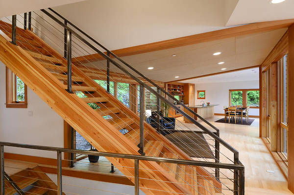Wall Art - Photograph - Wooden Staircase by Will Austin