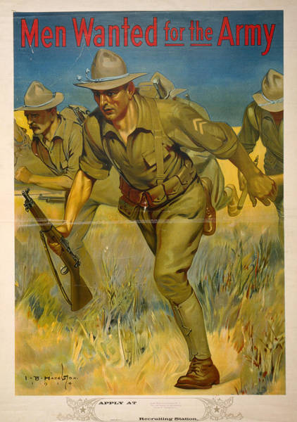 Recruitment Painting - World War I Poster, 1914 by Granger