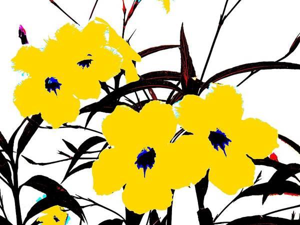 Digital Art - 4 Yellow Jacks by David Clark