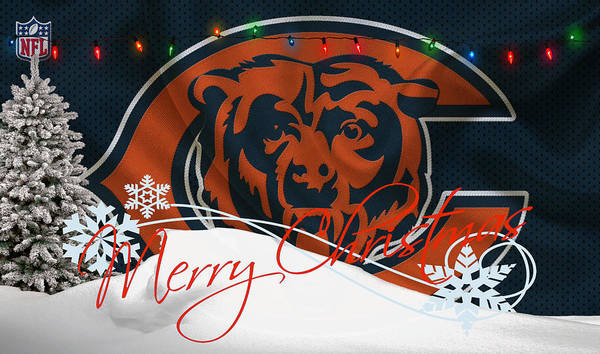 Santa Photograph - Chicago Bears by Joe Hamilton