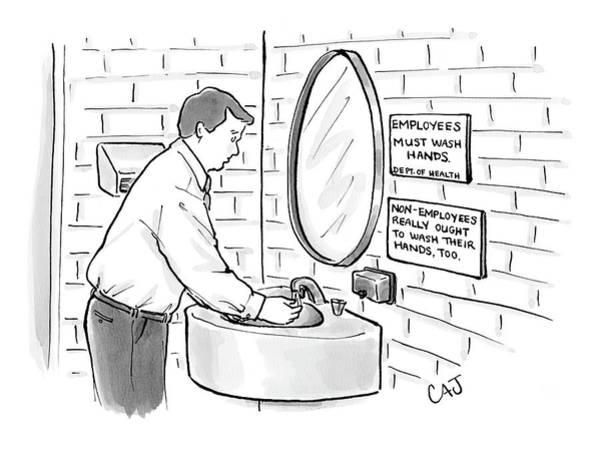 Sign Drawing - New Yorker July 31st, 2006 by Carolita Johnson