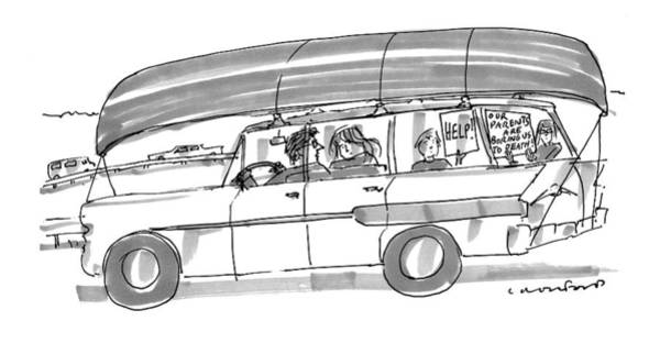 Road Trip Drawing - Captionless by Michael Crawford