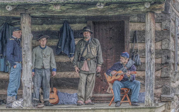 40th Pennsylvania In Camp Entertaining Prisoners Art Print