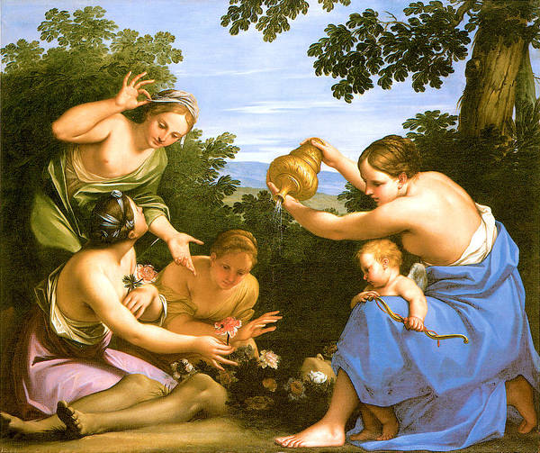 Painting - Venus Anointing The Dead Adonis by Marcantonio Franceschini