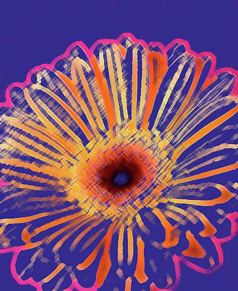 Neon Blue Digital Art - Organic by Michael Banks