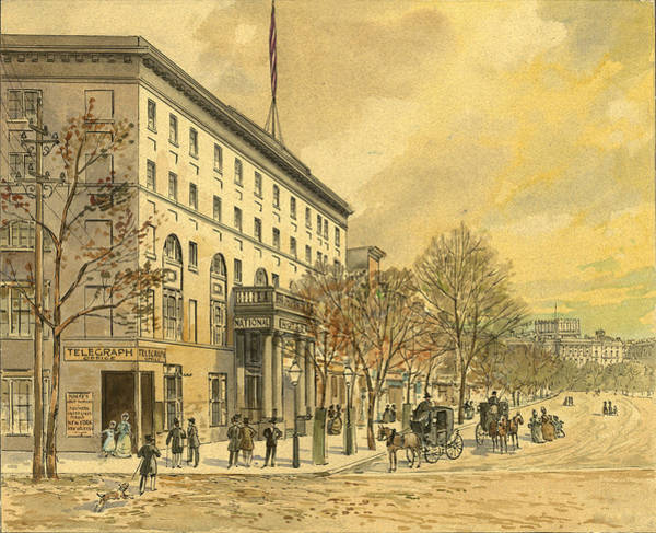 Capitol Drawing - Washington, D by Granger