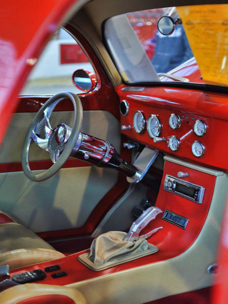 Photograph - '41 Willy's Coupe Interior by Paulette B Wright