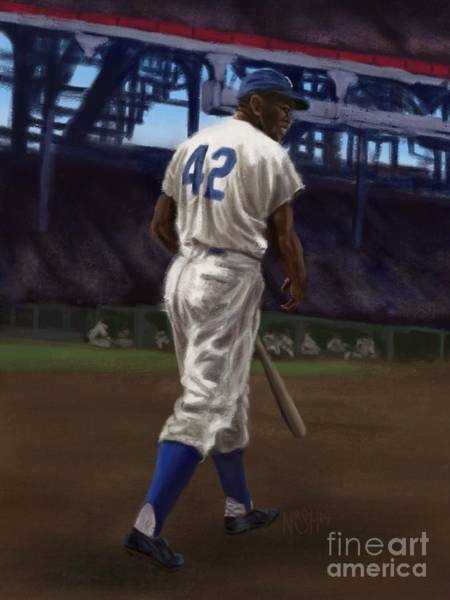 Jackie Robinson Wall Art - Painting - 42 by Jeremy Nash