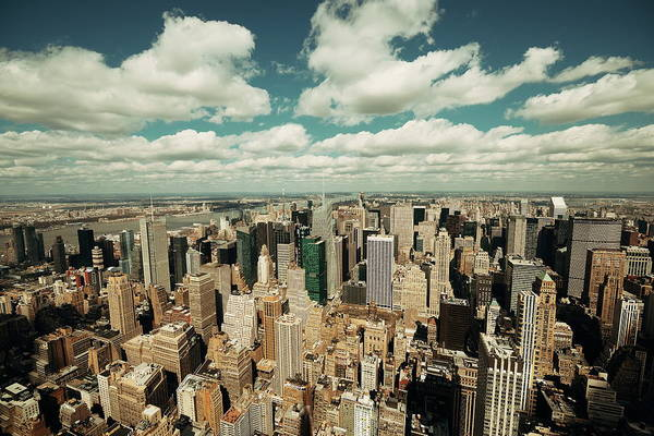 Photograph - New York City Skyscrapers by Songquan Deng