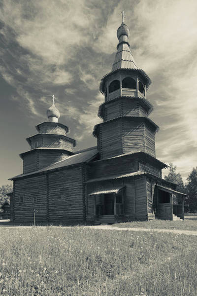 Wooden Church Wall Art - Photograph - Russia, Novgorod Oblast, Veliky by Walter Bibikow