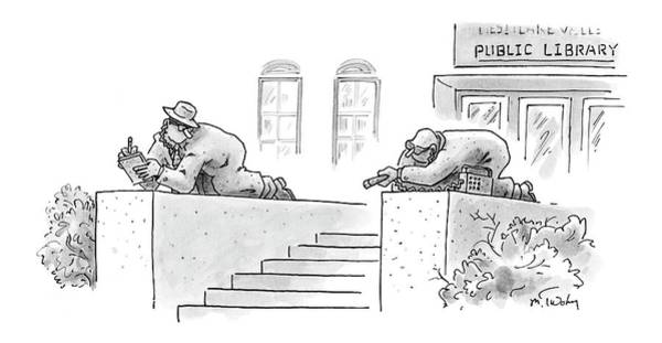 Library Drawing - New Yorker February 13th, 2006 by Mike Twohy