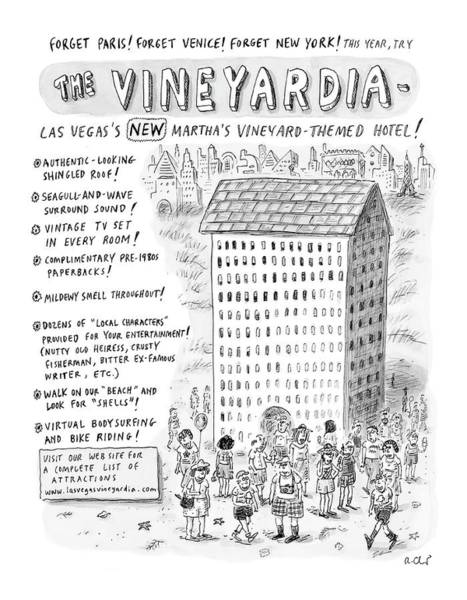 Regional Drawing - The Vineyardia by Roz Chast