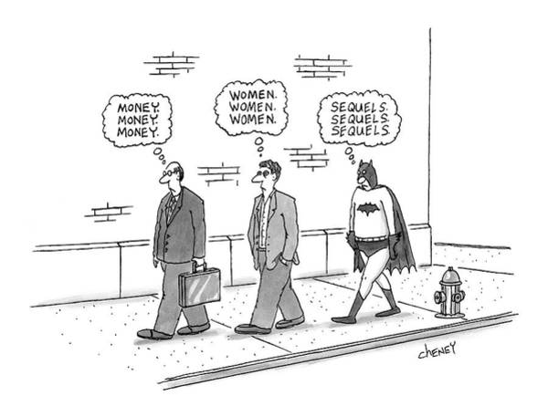 Rich Drawing - New Yorker October 17th, 2005 by Tom Cheney