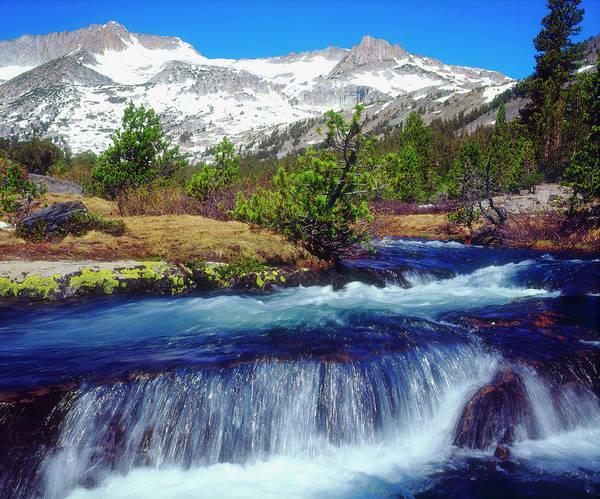 Orange Lichen Photograph - Usa, California, Sierra Nevada Mountains by Jaynes Gallery