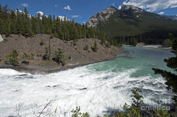 Photograph - 426p Bow River Falls Canada by NightVisions